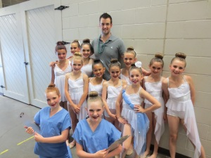 The Lake Area Dance Center Angels with their choreographer/teacher, Mike Dietz.